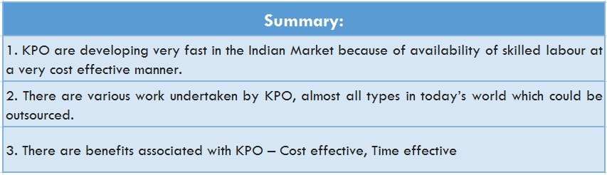Financial KPO Summary
